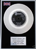 "THE FOUR SEASONS - 7"" Platinum Disc - WALK LIKE A MAN"